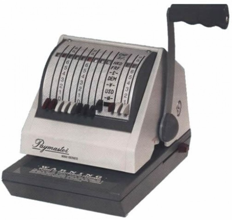 Paymaster 9000-8 Check Writer Protector All Gray Color